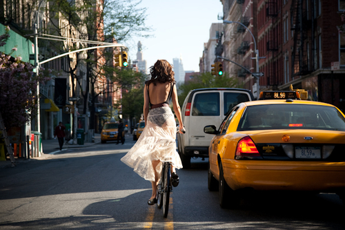 Bike Riders from Behind - New York