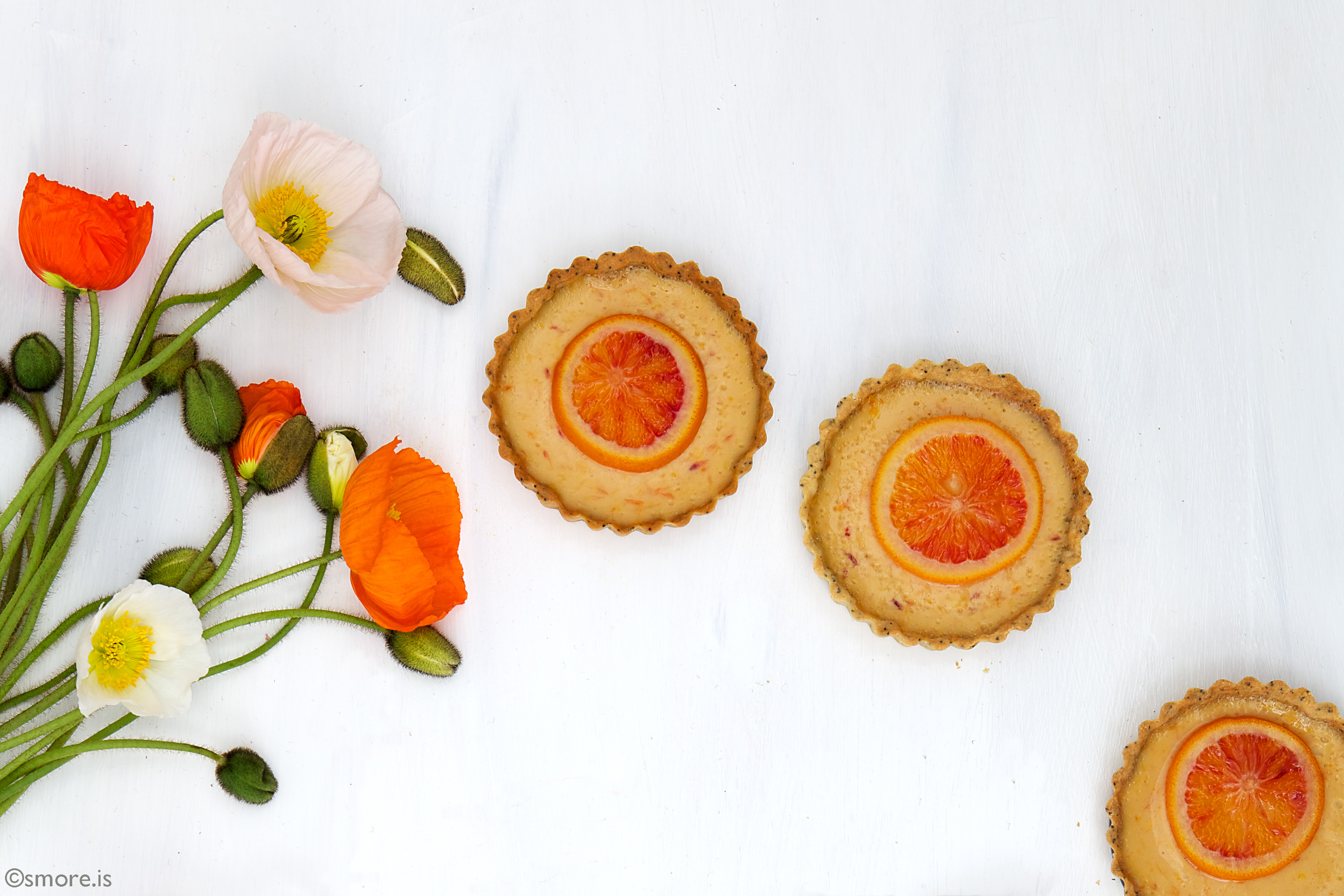 Blood Orange Tarts - s'more